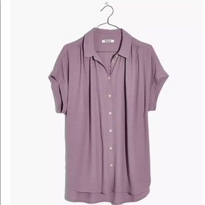 Madewell Central Drapey Blouse in Lilac